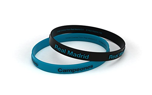 Real Madrid Fußball-Club 3d Blau Türkis Standard Herrenuhr, Silikon-Armband, Offizielles Lizenzprodukt -