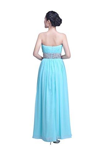 YiYaDawn Langes Ballkleid Partykleid Abendkleid für Damen Türkis