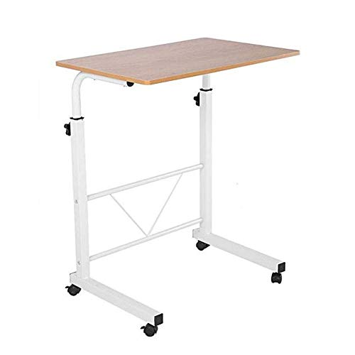 Lucidz Laptop Table Cart Over Bed Height Adjustable Rolling 28-36