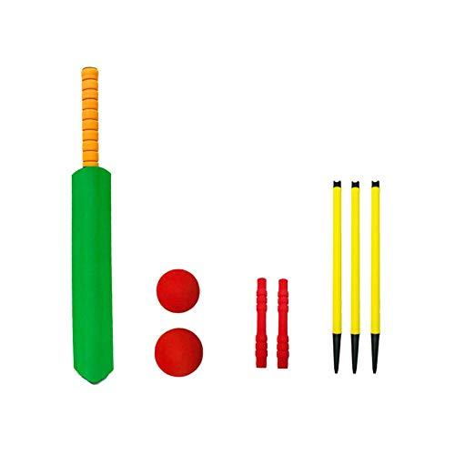 rethyrel Kinder-Cricket-Set Umweltfreundliches NBR-Schaum-Cricket-Set mit Cricketschläger-Cricketball Kinder-Sportartikel-Cricket-Set für drinnen und draußen