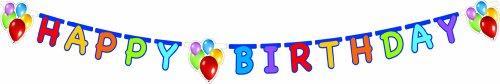 Procos - Guirnalda Happy Birthday Balloons Fiesta, multicolor, PR9724