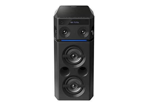 Panasonic HiFi SC-UA30GW-K Portable Party Speaker System (300W) RMS with Remote & 2 Mic Jacks for Karaoke(Black)