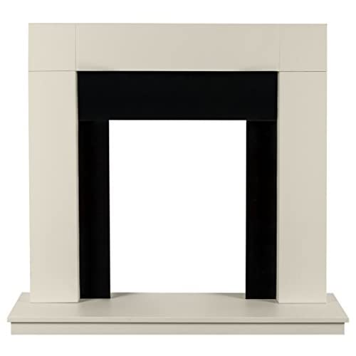 31o1vJ4Z60L. SS500  - Adam Malmo Fireplace in Oak and Black/Cream, 39 Inch