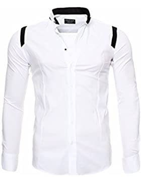Redbridge Herren Hemd Langarm mit Buttondown Kragen im Slim Fit Style M5008