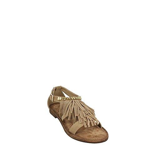 Gold&gold | Sandalo frangia strass khaki Khaki
