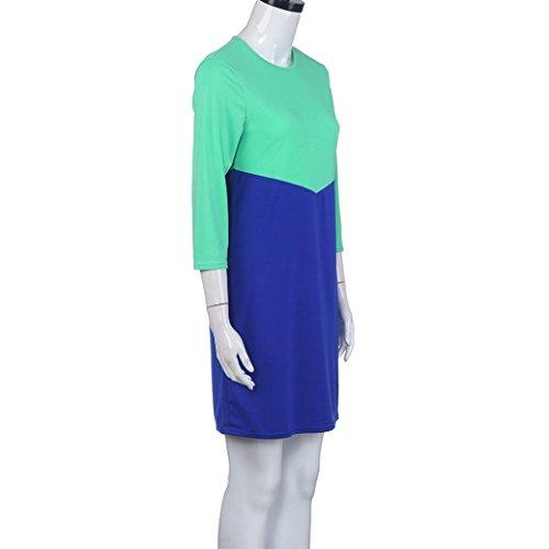 Robes, Malloom® Aux femmes Bodycon Robes de soiree Fête Soir Mini robe de patchwork Bleu