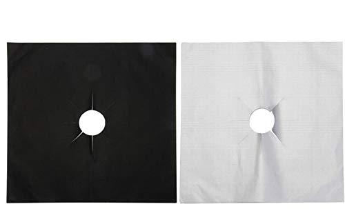 Air Jade Schutzabdeckung für Ofenbrenner, FDA-geprüft, antihaftbeschichtet, leicht zu reinigen, Gas-Schutzfolien, 8 Stück schwarz -