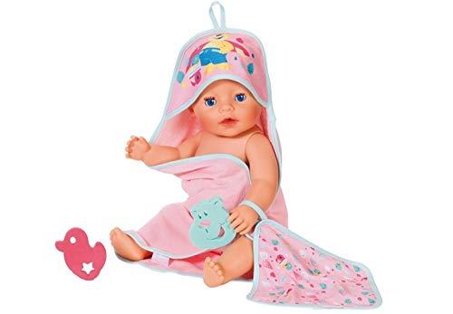 Unbekannt Zapf Baby Born® Bath Handtuch mit Kapuze und Schwamm