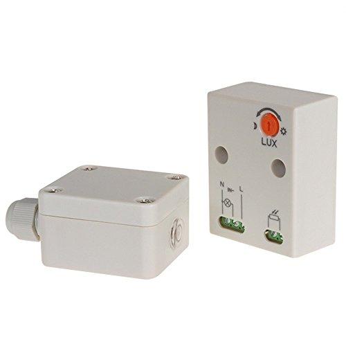 Maclean MCE35 Dämmerungssensor, Dämmerungsschalter, mit externen Sensor für Außenbereich, max. 3450W und IP65 - wasserdicht