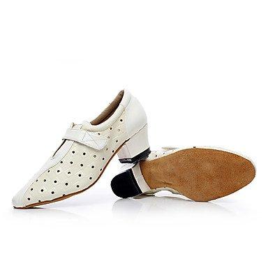 Scarpe da ballo-Personalizzabile-Da donna-Balli latino-americani / Jazz / Sneakers da danza moderna / Moderno-Basso-Finta pelle-Nero / Black