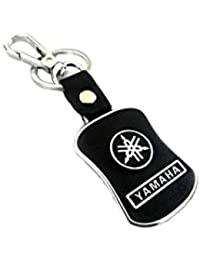 Kolossalz Yamaha Black Leather Brand New Keychain For Car Men Boys