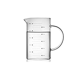 AsentechUK® Glass Measuring cup Borosilicate Glass jug With Handle Kitchen Cooking Tool