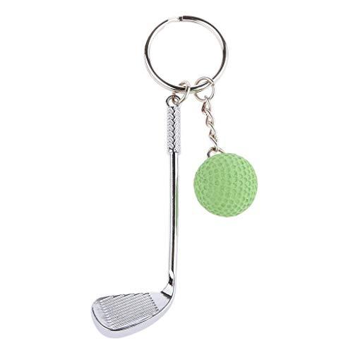SGJIN Home Mini Golf Clubs & Ball Anhänger Handtasche Tasche Schlüsselanhänger Schlüsselanhänger Geschenk (Color : Green) -