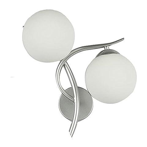 Moderne Simplicité Créative Applique Lampe de chevet pour Salon Chambre à coucher Salle d?étude Chambre d?hôtel, Corridor , silver