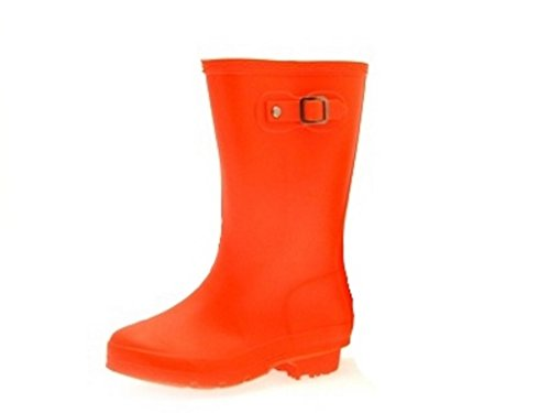Girls Kids Neon Knee Length Wellington Boots Snow Shoes Rain Winter