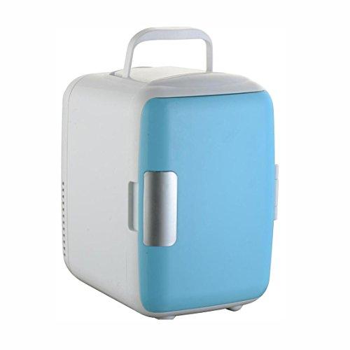 Preisvergleich Produktbild HuanLeBao 3 Farbvarianten Dosenkühlschrank: Mobiler Mini-Kühlschrank mit Wärmefunktion, 4 L, 12V , Blue