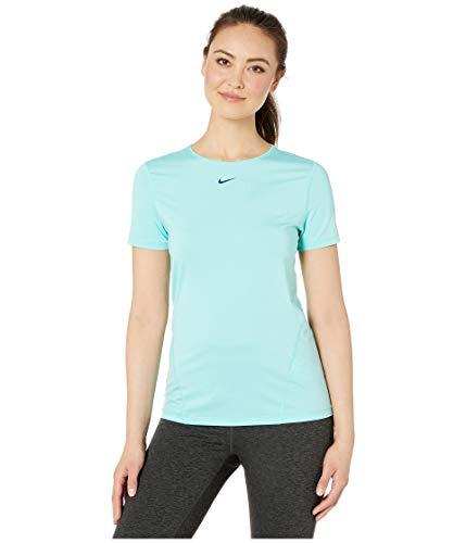 Nike Damen W NP TOP SS All Over MESH T-Shirt, Tropical Twist/Nightshade, XS (Nike Pro T-shirt Frauen)