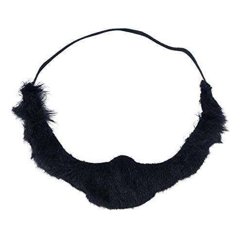 Piraten Beard Kostüm Black - Amosfun Fake Beard Black Bearded Lustiger Halloween Schnurrbart Pirat Bart Party Kostüm für Halloween Masquerade Party Favors