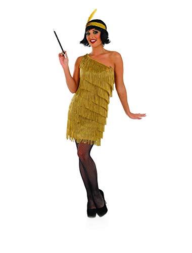 COCKTAIL GOLD FLAPPER FANCY DRESS COSTUME - SIZE XLARGE ()