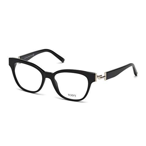 Tod's to5172, occhiali da sole unisex-adulto, (nero lucido), 52.0