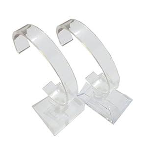 2 Stück Armbanduhr Schmuck Armband Display Steht Rack Halter Styling für Zuhause oder Store Verwendung, Transparent