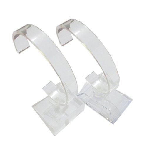 (2 Stück Armbanduhr Schmuck Armband Display Steht Rack Halter Styling für Zuhause oder Store Verwendung, Transparent)