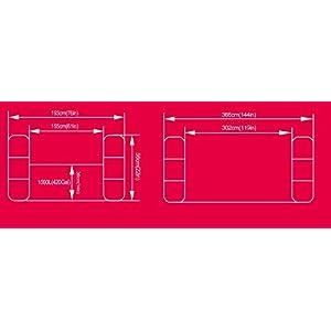 Jilong Fun Piscina Gonfiabile Rettangolare 3 Anelli, Blu, 366 X 193 X 56 Cm