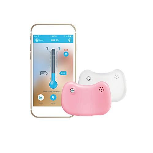 Creator-Z Touchless Thermometer - Berührungsloses Stirnthermometer Für Babys Und Kleinkinder, Bluetooth, Smartphone Kompatibel, Sekundenschnell Und Exakt, 2 Stück