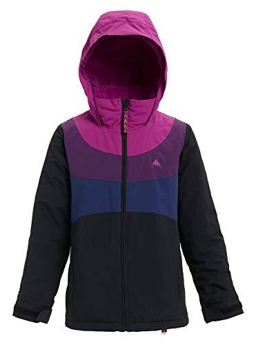 Burton Mädchen Hart Snowboard Jacke, True Black/Grapeseed/Concord/Spellbound, S (Snowboard-jacken Kinder Für)