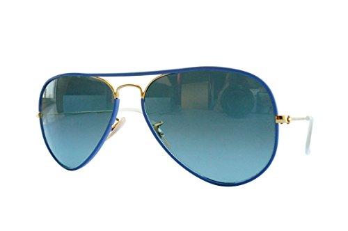 Ray-Ban Unisex Sonnenbrille RB3025JM, Einfarbig, Gr. Large (Herstellergröße: 58), Gold (Gestell: silber, Gläser: grün gespiegelt silber)
