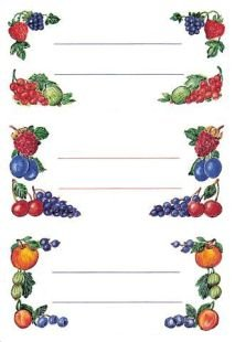 HERMA Kitchen labels 76x35mm berry arrangements 4 sheets 4pieza(s) - Etiqueta autoadhesiva (76 x 35, 4 pieza(s))