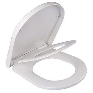 WC Sitz für Kinder Familien Toilettensitz softclose Family, mit 3-facher Absenkautomatik, Klobrille abnehmbar zur Reinigung von der Keramik