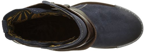 Fly London - Lok, Stivali Donna Blu (Blau (Deep / Dk. Brown 008))