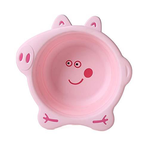 FNCUR Gesundes Und Umweltfreundliches Silikonklappbecken Babywaschbecken Küchenspüle Outdoor-Aktivität Multifunktionsbecken Kann In Eine Tasche Gelegt Werden (Color : Pink)