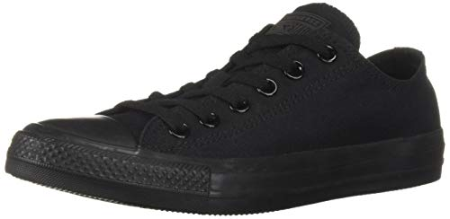 Converse Unisex Chuck Taylor All Star Ox Low Top Classic Black Monochrome Sneakers - 8.5 B(M) US Women / 6.5 D(M) US Men - Ox Black Monochrome