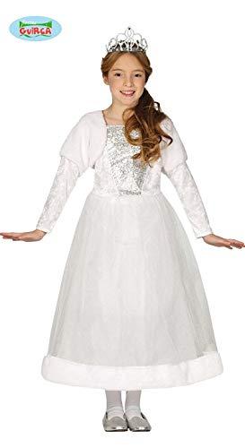 Fiesta Guirca Prinzessinkostüm Kleid Königin Kinderkostüm Mädchen Prinzessin Kostüm Weiss (Weiße Königin Kostüm)