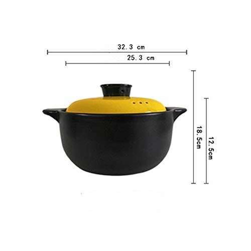 L Y Auflauf, Keramik holländischen Ofen, Home Ceramic Mit Deckel Schwarz Sicherheit Auflauf Hochtemperatur/All Stove Top,D -