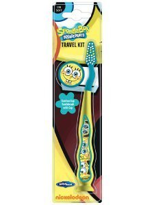 Mr White Jr Zahnbürste mit Schutzkappe, Motiv SpongeBob Schwammkopf