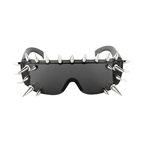 Amosfun Lustige Tanzparty Makeup Brille Mode Nieten Brillen Halloween Kostüme für Maskerade Party (25 Nieten)
