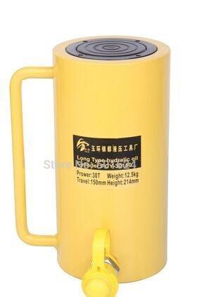 Newtry Stroke Gato hidráulico de tipo largo, cilindro hidráulico de 30 toneladas 150 mm