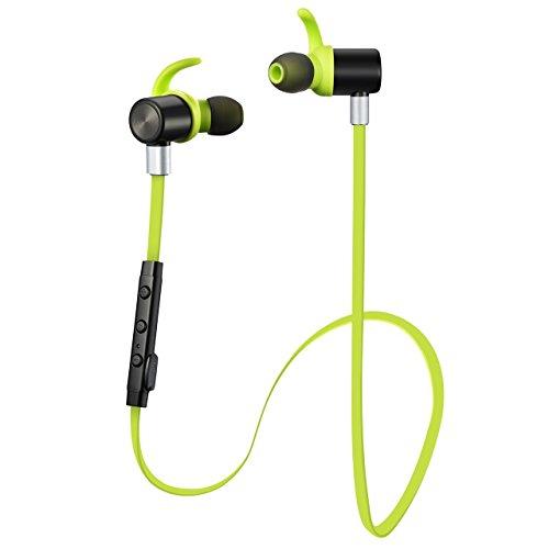 [auricular inalámbrico Bluetooth V4.1] VTIN auricular inalámbrico Bluetooth V4.1auricular estéreo de deporte Bluetooth auriculares in-ear nulidad ruido con apt-X/Mic para Iphone 6S 6S Plus 66Plus 5S 4S Galaxy S6S5y Android Teléfono
