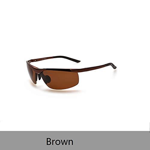 LKVNHP New Hochwertige Sportbrillen Hochwertige Polarisierte Sonnenbrillen Männer Frauen Sonnenbrillen Driving Sol Hipster EssentialBrown