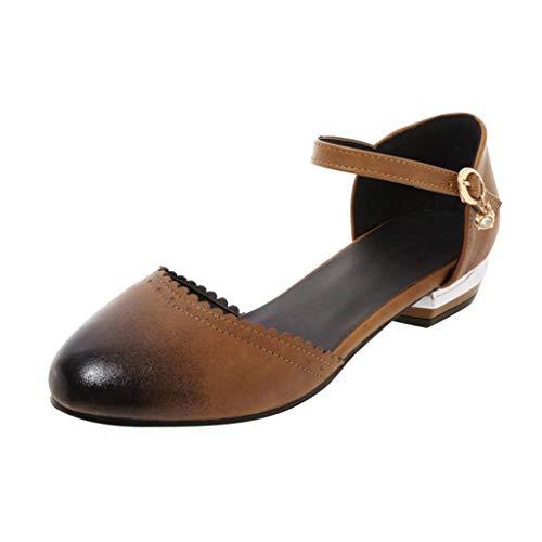 hahashop2 Sandalen Damen Sommer Schuhe, New Casual Gradienten Frühjahr und Sommer Frauen Neue Außenhandel Seite mit niedrigen Absätzen Damen Sandalen -