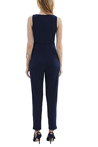 ESPRIT Collection Damen Jumpsuits 037EO1L001, Blau (Navy 400), 42 (Herstellergröße: XL) - 2