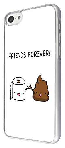 iphone 5C, Motiv Cool Fun Funny Friends Forever Toilettenhilfe Paper &140 P Design Fashion Trend Hülle Cover Schutzhülle Rückseite Case-Metall und Kunststoff