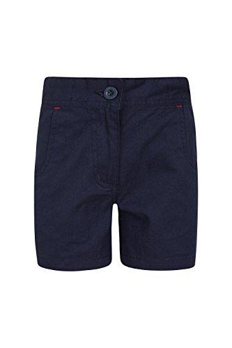 aterfall Shorts für Mädchen - Baumwollshorts, Hotpants, atmungsaktive Urlaubsshorts, pflegeleichte Shorts - Lässige Kleidung für die Reise Marineblau 98 (2-3 Jahre) (Die Kleidung)