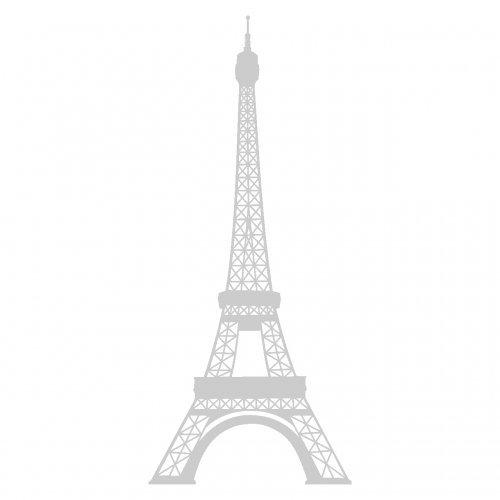 plot4u Wandtattoo Eiffelturm Paris Wandaufkleber in 13 Größen und 25 Farben (17x40cm - Paris-wand-aufkleber