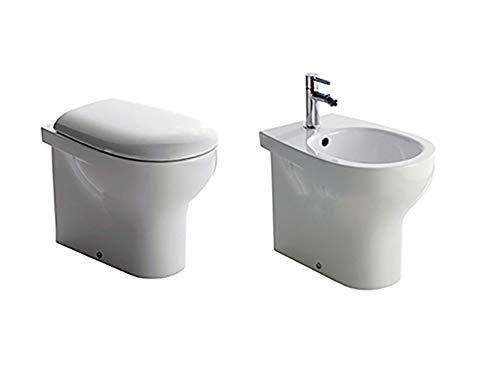 Sanitari bagno vaso filo muro, bidet e coprivaso, Grace Globo