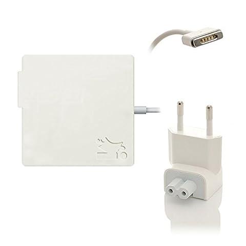 Original iProtect® Netzteil Ladegerät 85W für Apple MacBook mit MagSafe 2 Netzanschluss Charger weiß