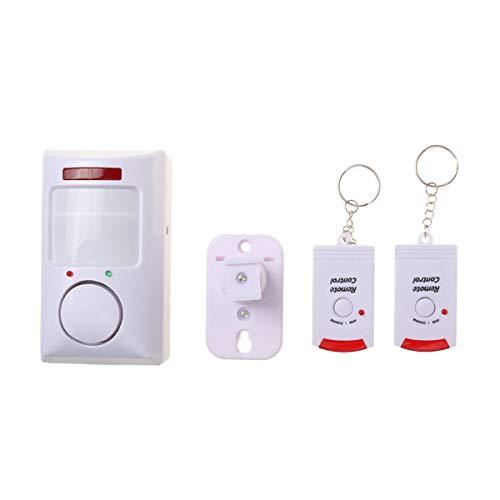 Morning May Sicherheit Wireless Outdoor Motion Detector Fenstersensor Tür Alarm Intrusion Effektiver Inbetriebnahme mit 2 Fernbedienungen, Sicherheitsset Intrusion Detector